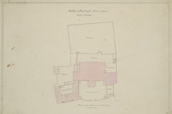 [Drawn plan of Montague House, the Duke of Buccleugh's, at Whitehall]